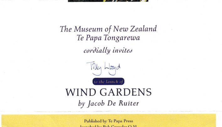Wind Gardens launch invitation, 15th June 2001