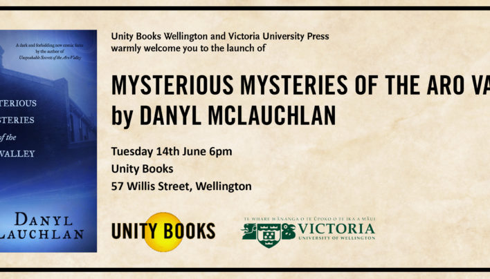 Mysterious Mysteries of the Aro Valley launch, 14th June 2016