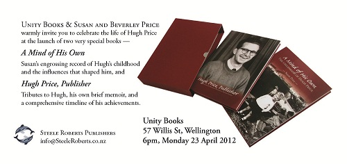 Hugh Price invitation, 23rd April 2012