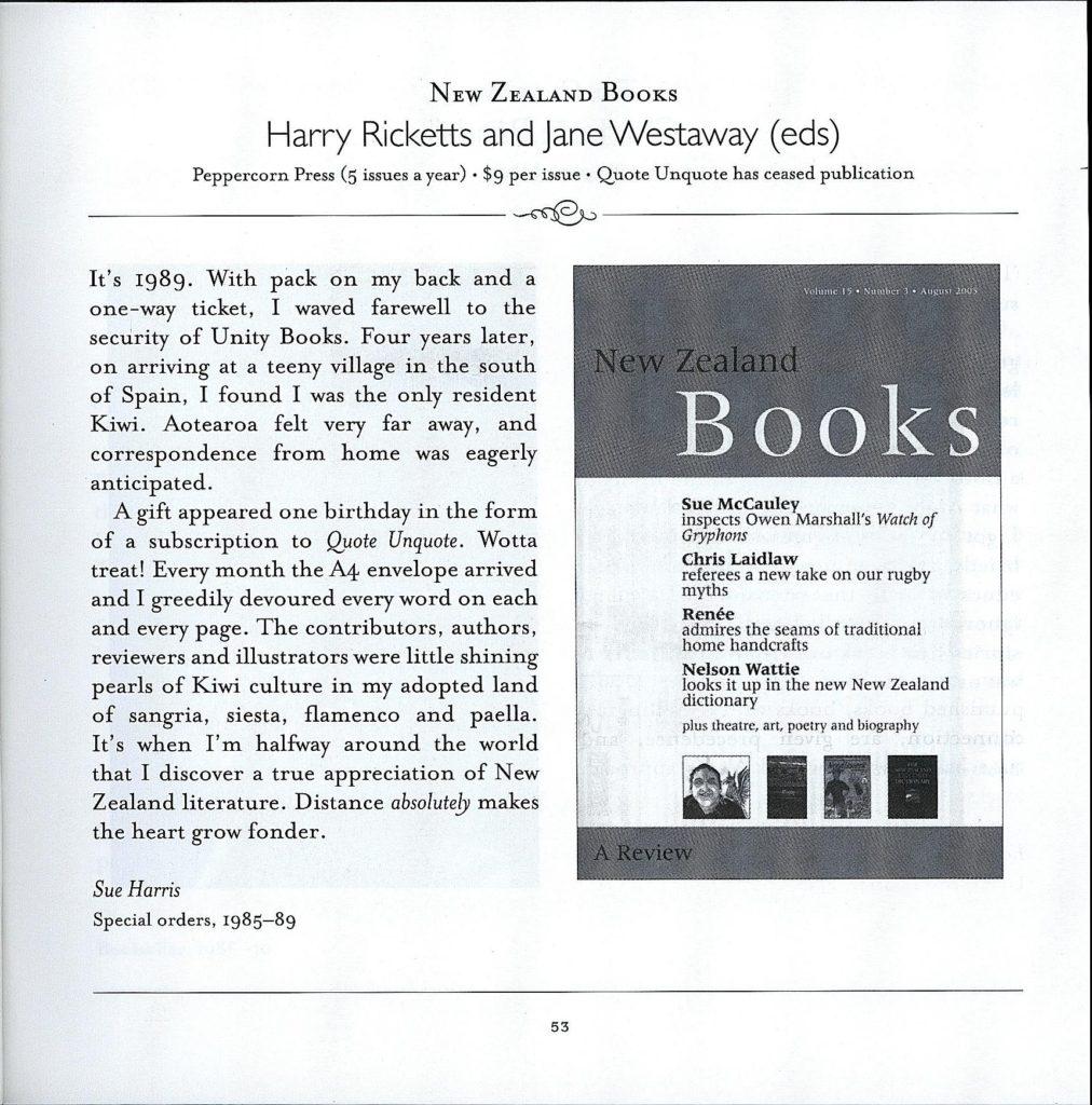Unity Books Selects New Zealand Writing, 2005 | Unity Books