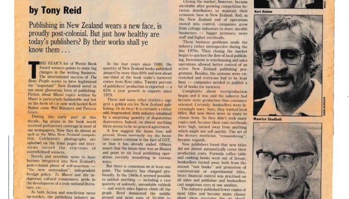 """By the Book"" article, Listener, 20th December 1986"