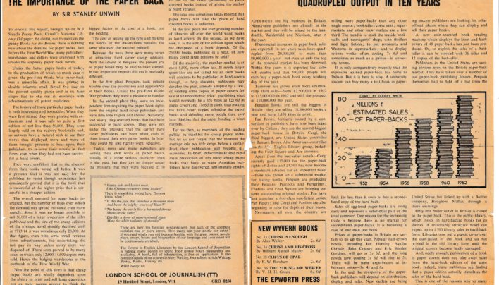 """The Importance of the Paper Back"" article, Time & Tide, 30th May 1963"