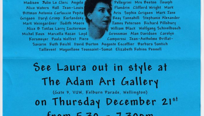 Laura Kroetsch Leaving Party invitation, 21st December 1998