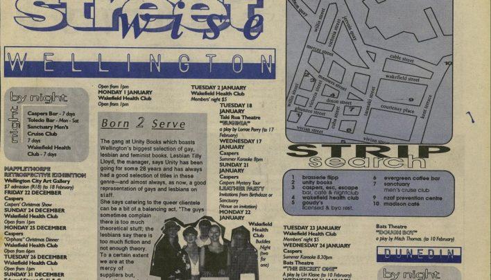 """Born 2 Serve"", Guide to Wellington, 21st December 1995"