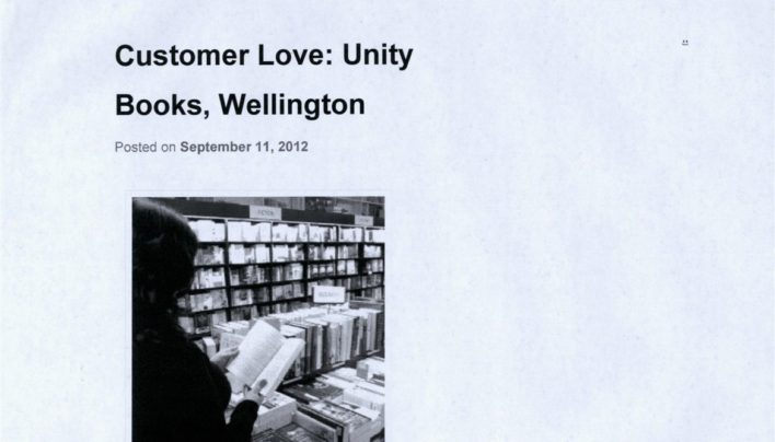 Customer Love via Indiebound, 9th November 2012