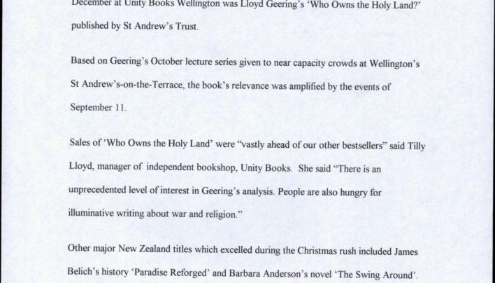 Christmas Bestsellers, 2001