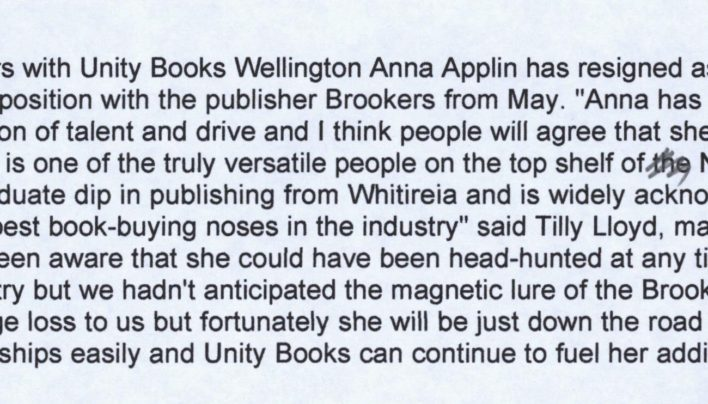 Anna Applin resigns as buyer, 8th April 2006