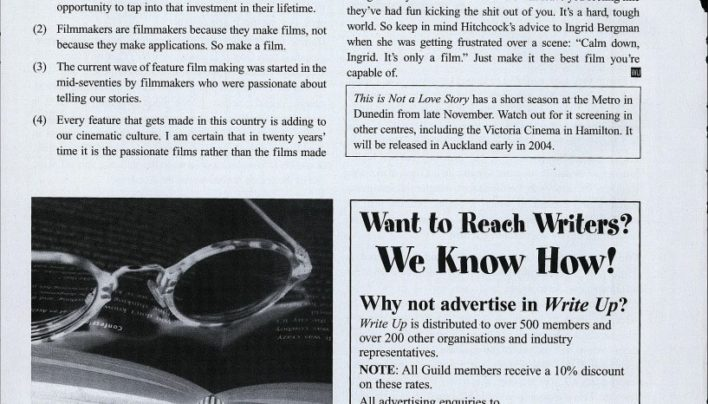 Write Up advertisement, Summer 2004
