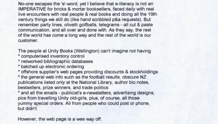 Tilly Lloyd on e-literacy for booksellers, 14th July 2000