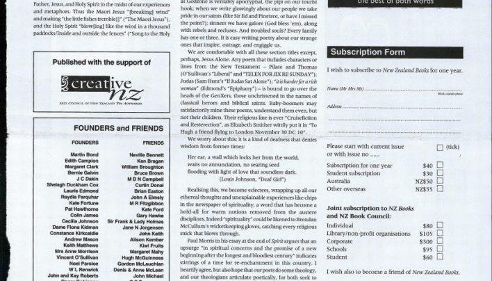 Advertisement, New Zealand Books, 1st March 2003