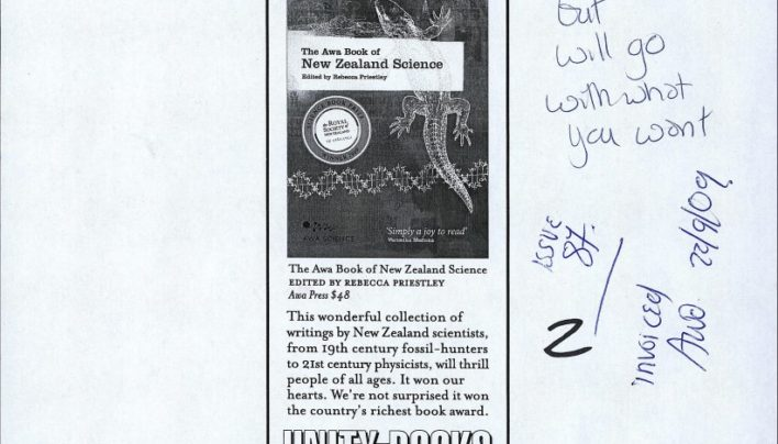 Advertisement with Awa Press, New Zealand Books, Spring 2009