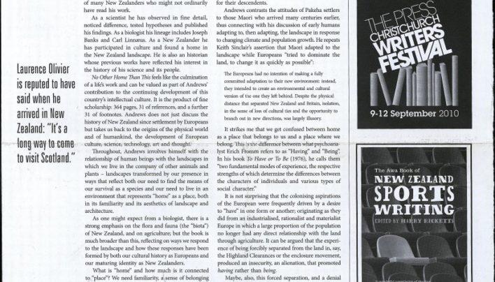 Advertisement with Awa Press, New Zealand Books, Winter 2010
