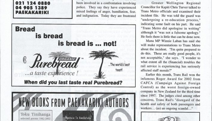 Advertisement, Paekakariki Expressed, 16th May 2003