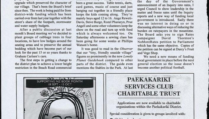 Advertisement, Paekakariki Xpressed, 22nd September 2006