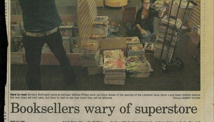 """Booksellers wary of superstore"" article, Dominion Post, 14th March 2007"