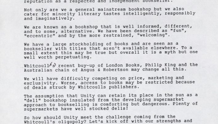 Whitcoulls buys London Bookshops Chain, 1993