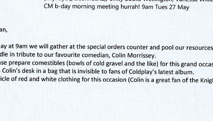 Colin Morris turns 153, 27th May 2014