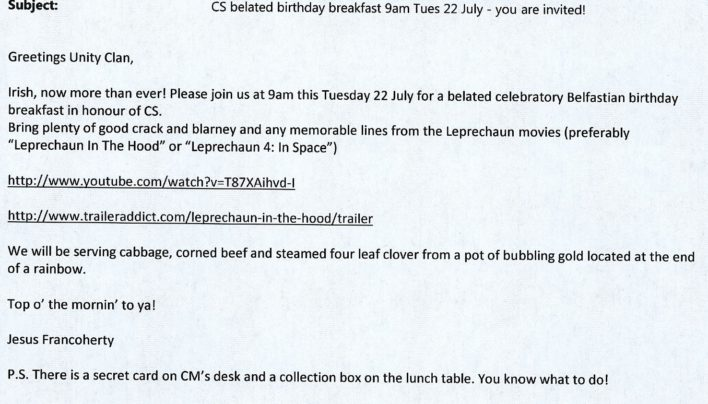 Courtney Smith Birthday breakfast, 22nd July 2014