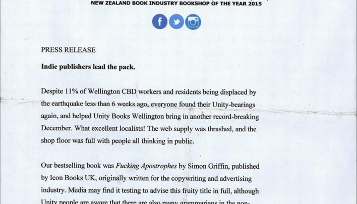 Christmas Press Release (draft), 2016