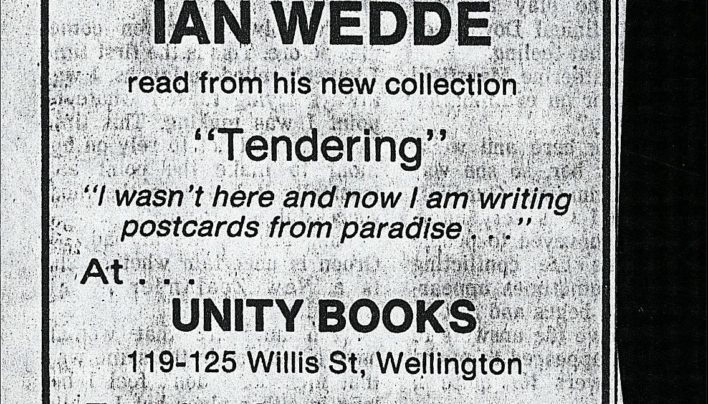 Ian Wedde advertisement, 8th October 1988