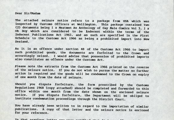 Customs Seizure, 3rd March 1989