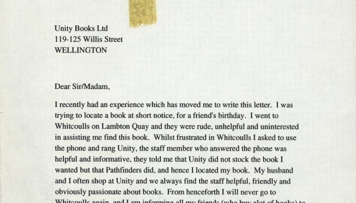 Nice feedback letter, 21st June 1995