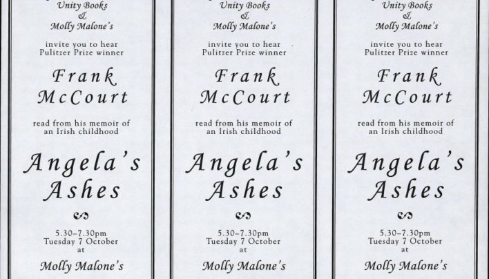 Frank McCourt event, Molly Malone's, 7th October 1997