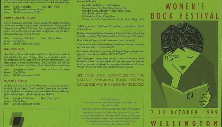 Listener Women's Book Festival, 2nd – 10th October 1999