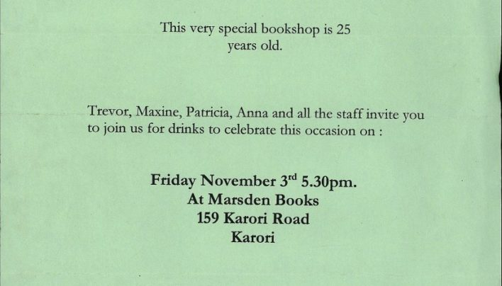 Marsden Books turn 25, 3rd November 2000