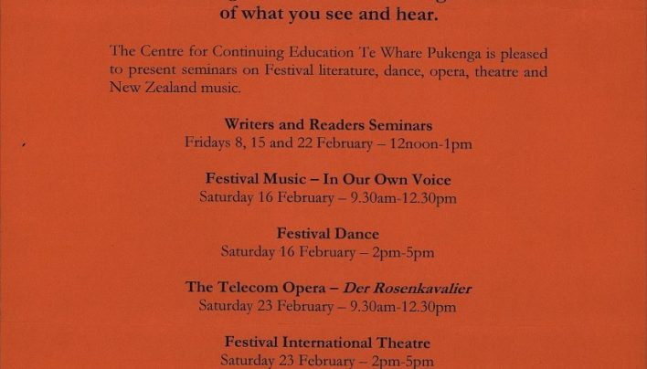 Festival Seminars, February 2001