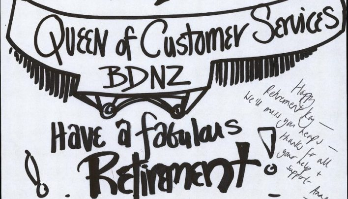 Kay from BDNZ retires, 2002