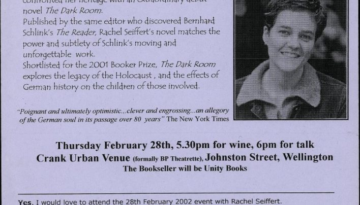Rachel Seiffert event, 28th February 2002