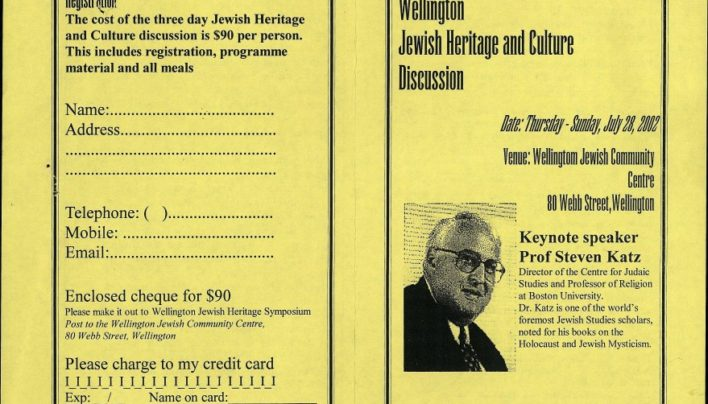 Wellington Jewish Heritage and Culture Discussion, 28th July 2002
