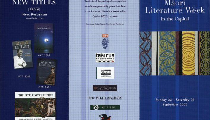 Māori Literature Week, 22nd – 28th September 2002