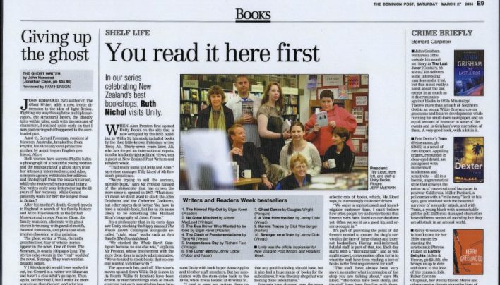 """You read it here first"" article, The Dominion, 27th March 2004"