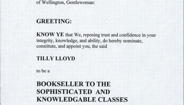 Totally official commendation from Helen Clark, 29th March 2004