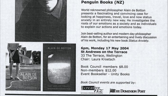 Alain de Botton event, 17th May 2004