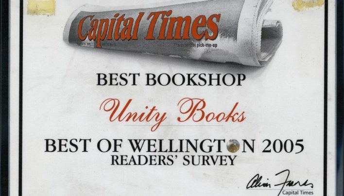 Best Bookshop Award, Capital Times Readers' Survey, 2005