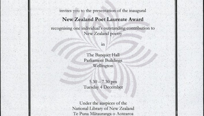 NZ Poet Laureate Award Ceremony, 4th December 2007