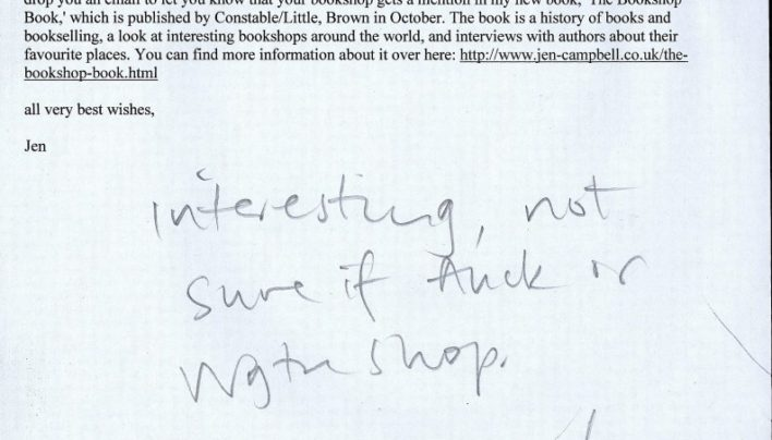 The Bookshop Book mention, 22nd August 2014