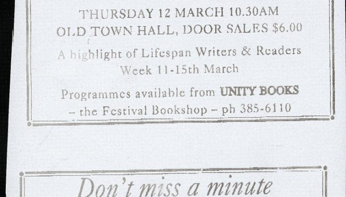 Alice Walker & Keri Hulme event, 12th March 1989