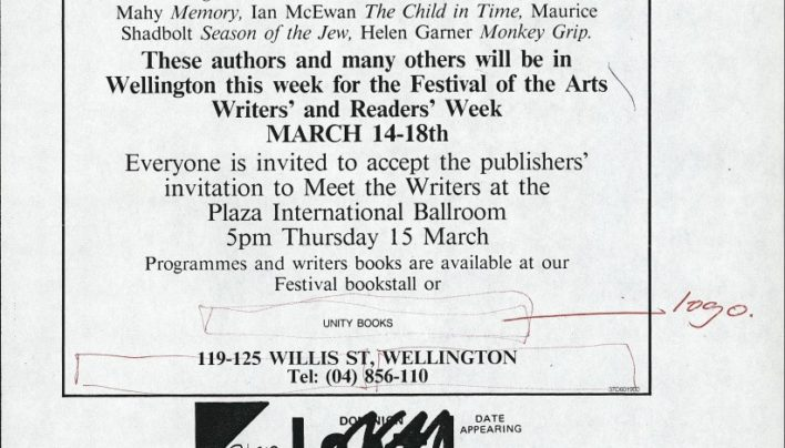 Writers and Readers Week 14th-18th March 1990