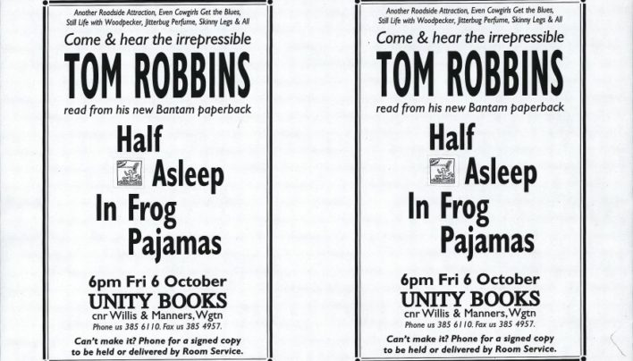 Tom Robbins event, 6th October 1995