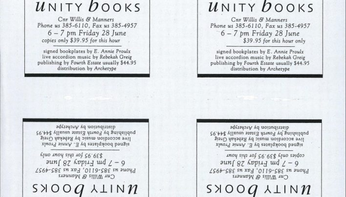 Accordion Crimes flyer, 28th June 1996
