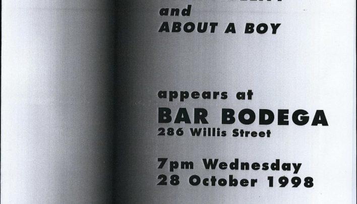 Nick Hornby at Bar Bodega, 7th October 1998