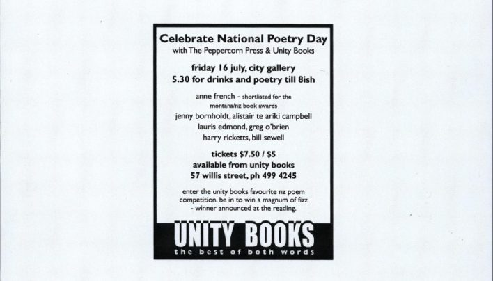 New Zealand Poetry Day, 9th July 1999