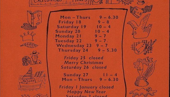 Christmas Hours, December 2000