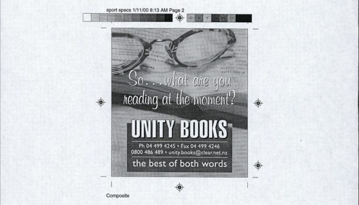 Christ,as advertisement, New Zealand Books, December 2000