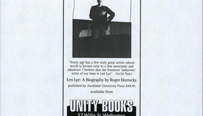 Len Lye advertisement, 12th April 2001