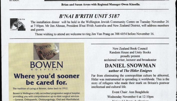 Daniel Snowman event, 6th November 2002